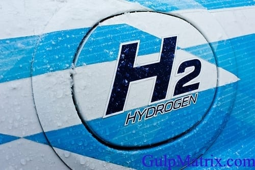 Hydrogen used in the production of hydrogen peroxide