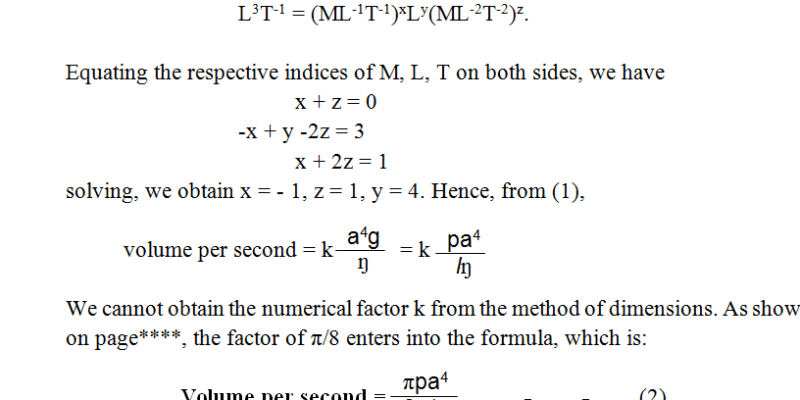 Poiseuille's Formula